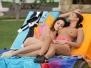 Girl on Girl- Hot Lesbians Sunbathing